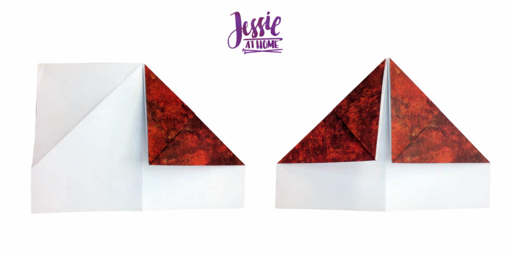 Origami Knight Helmet Tutorial by Jessie At Home - Step 8