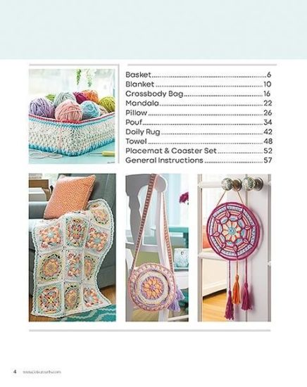 Overlay Crochet Book Review by Jessie At Home - Contents