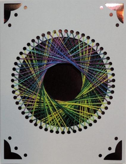 Simple Circle String Art Card