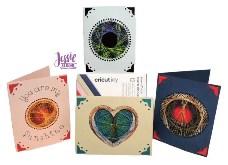 String Art Cards with Cricut Joy