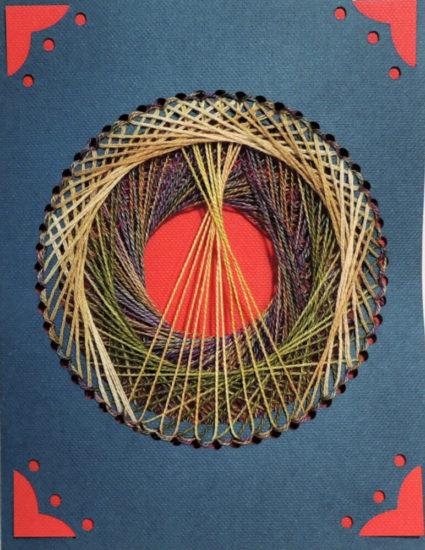 Super Circle String Art Card