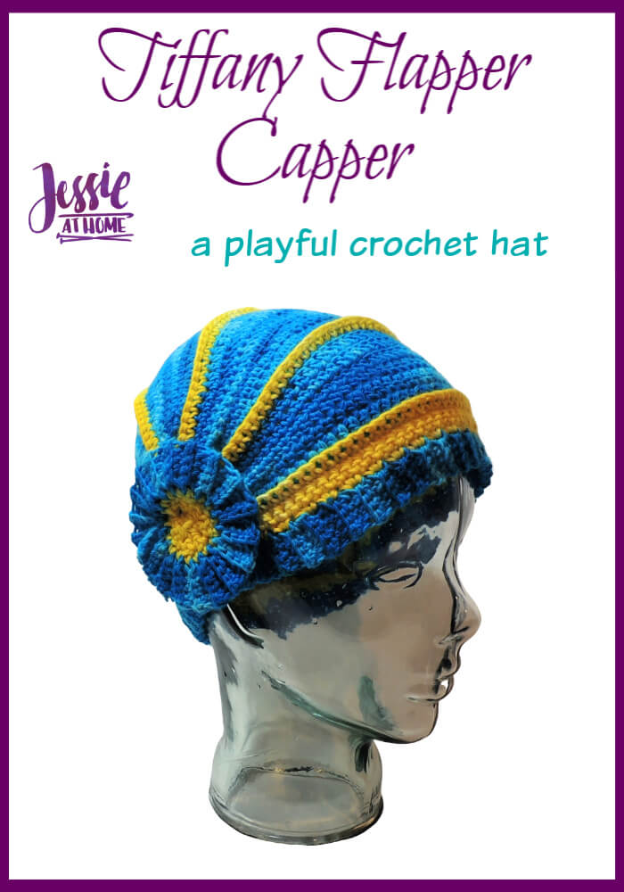 Tiffany Flapper Capper - crochet hat pattern by Jessie At Home - Pin 1