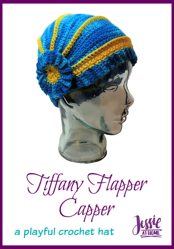 Tiffany Flapper Capper - a playful full-coverage hat