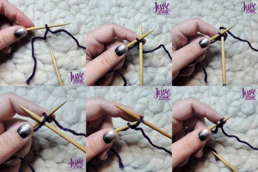 Cable Cast On Video and Photo Tutorial Stitchopedia by Jessie At Home - First 2 Stitches