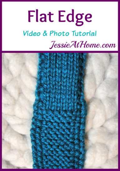 Flat Edge Stitchopedia Video & Photo Tutorial by Jessie At Home - Pin 1