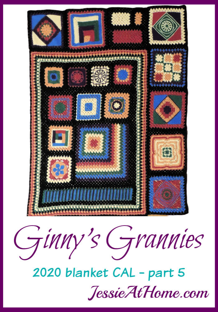 Little Squares, Big Squares, Diamond Squares – Ginny's Grannies CAL Part 5