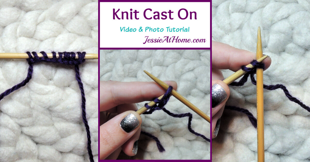 Knit Cast On Video and Photo Tutorial Stitchopedia by Jessie At Home - Social