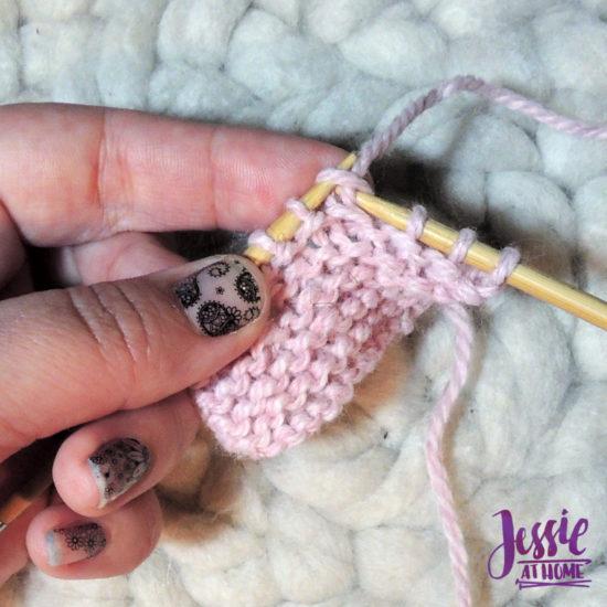 Knit Stitch Stitchopedia Video & Photo Tutorial by Jessie At Home - 3