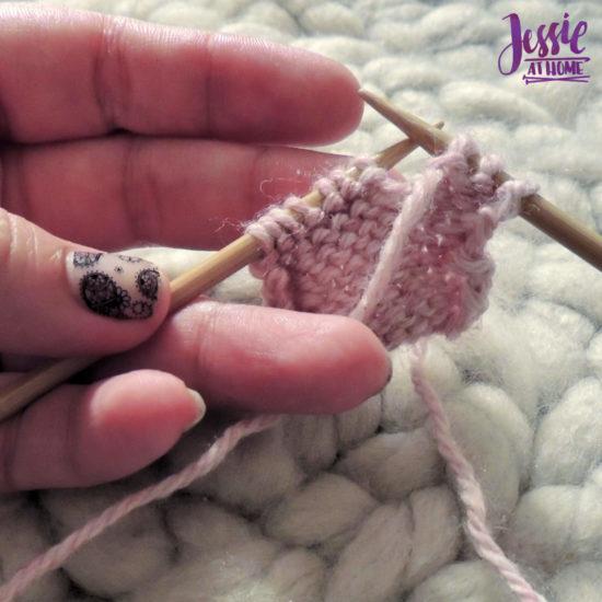 Purl Stitch Stitchopedia Video Tutorial by Jessie At Home - 1