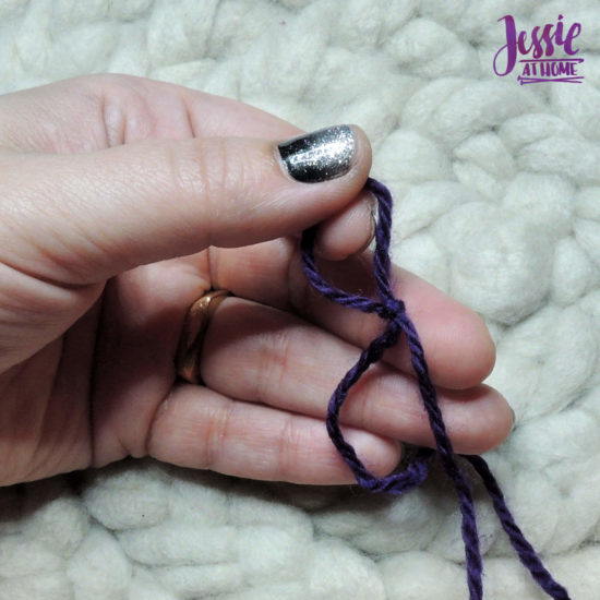 Slip Knot Video and Photo Tutorial Stitchopedia by Jessie At Home - 6
