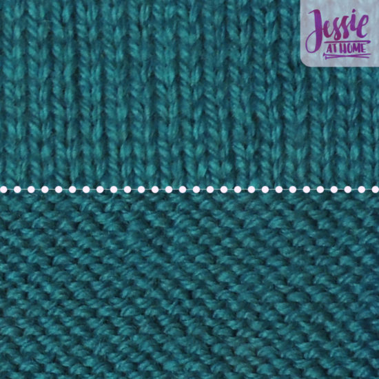 Stockinette Stitch Stitchopedia Video & Photo Tutorial by Jessie At Home - Done