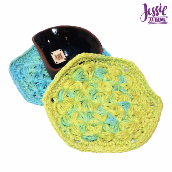 Turkish Lif Scrubby crochet pattern by Jessie At Home - 2