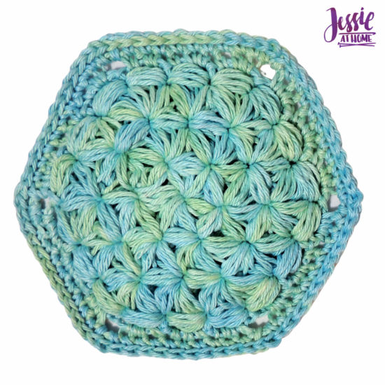 Turkish Lif Scrubby crochet pattern by Jessie At Home - 5
