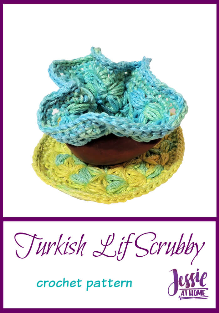 Turkish Lif Scrubby – a fun stitch for cleaning away!