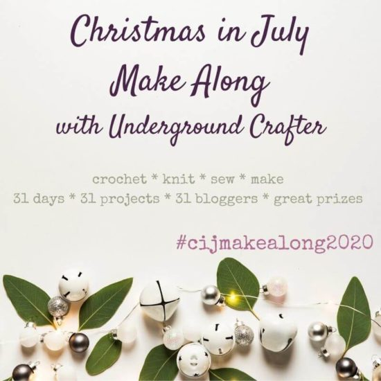 2020 Christmas in July Make Along with Underground Crafter Instagram