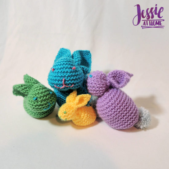 Bunny Squared - stuffed bunny tutorial by Jessie At Home - 1