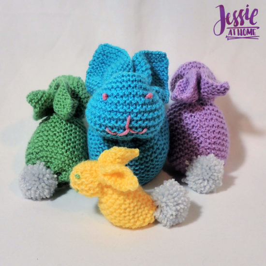 Bunny Squared - stuffed bunny tutorial by Jessie At Home - 2