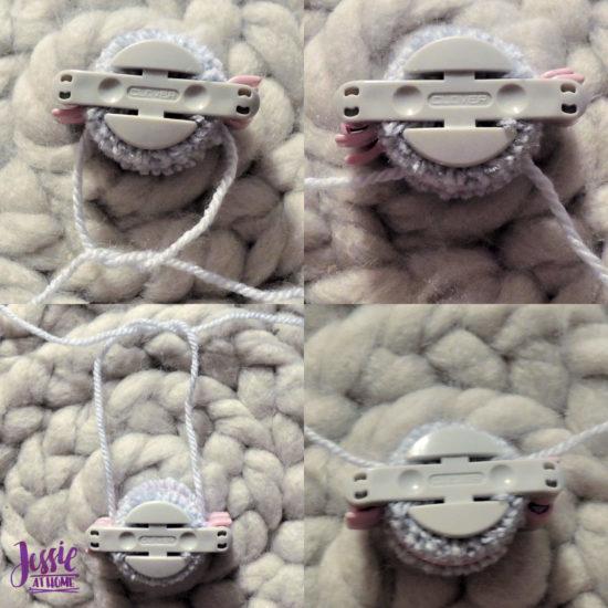 Clover Pom Pom Maker Tutorial by Jessie At Home - Tie, wrap, tie
