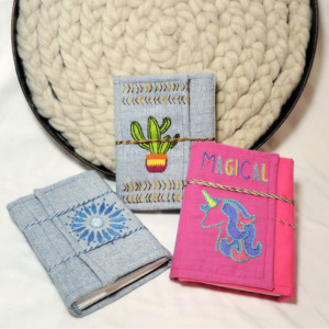 Header Square Embroidered Books