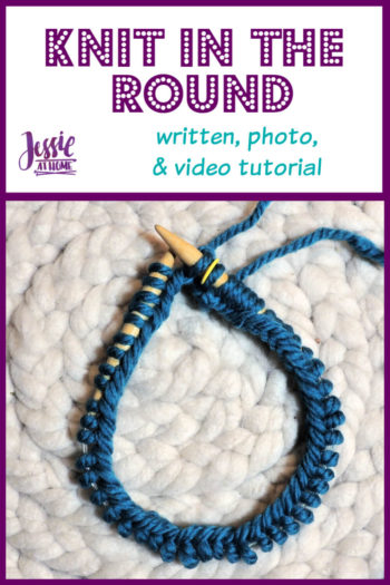 How to Knit in the Round Stitchopedia Tutorial by Jessie At Home - Pin 1
