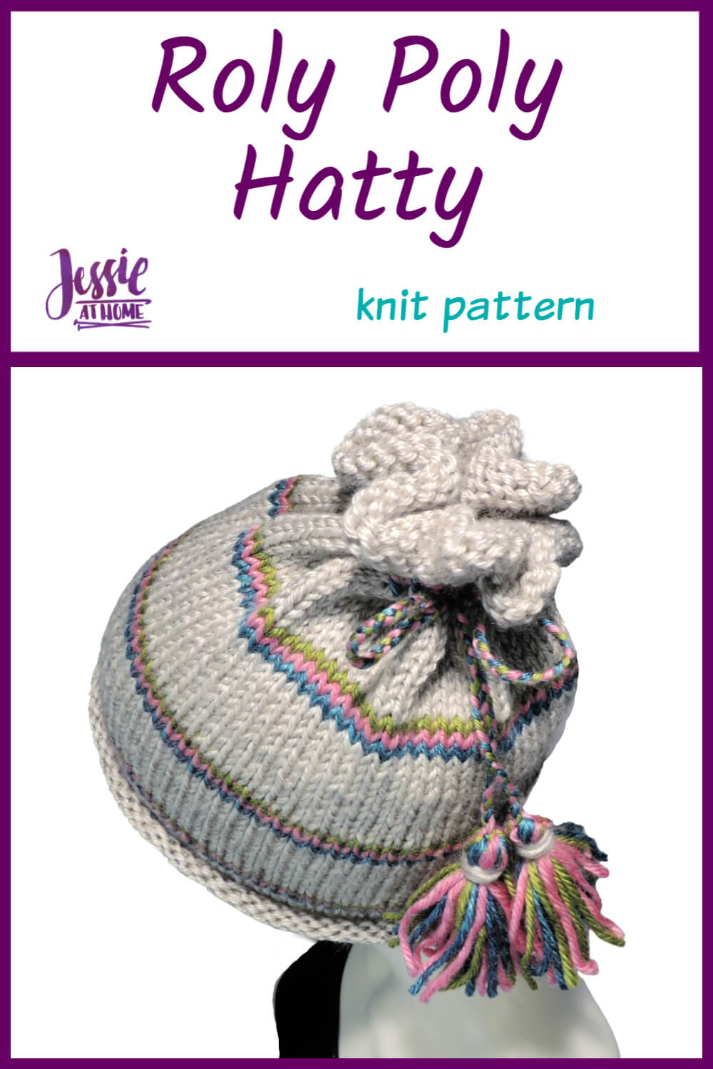 Pin 2 - Roly Poly Hattie knit pattern by Jessie At Home