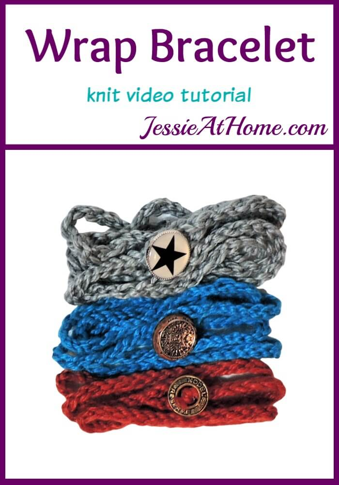 Simple Knit Wrap Bracelet Video Tutorial