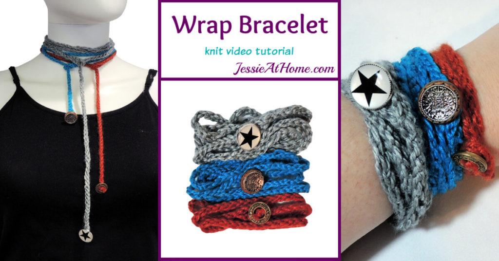 Simple Knit Wrap Bracelet Stitchopedia Video Tutorial - Social