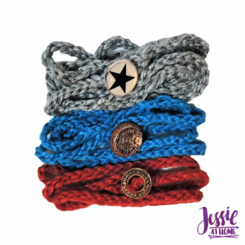 Simple Knit Wrap Bracelet beginner knit pattern by Jessie At Home - 2