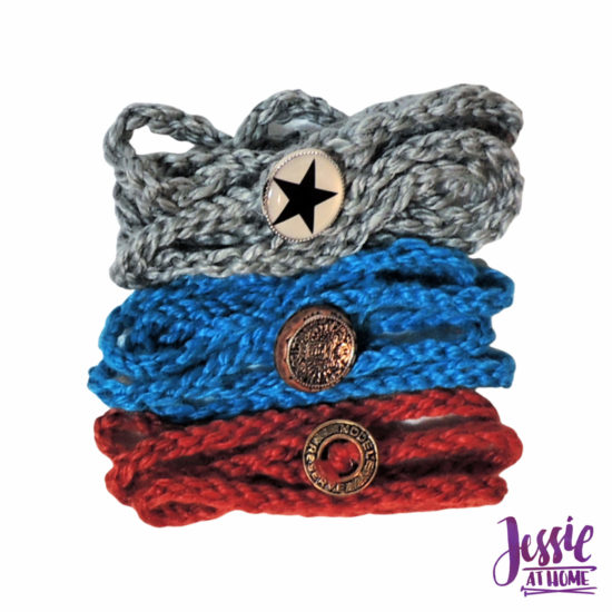 Simple Knit Wrap Bracelet beginner knit pattern by Jessie At Home - 2