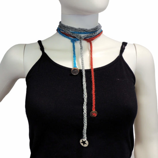 Simple Knit Wrap Bracelet beginner knit pattern by Jessie At Home - 3