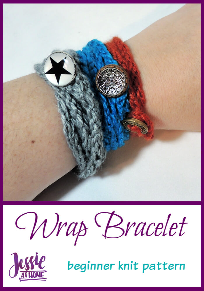 Simple Knit Wrap Bracelet – a great learn-to-knit project!