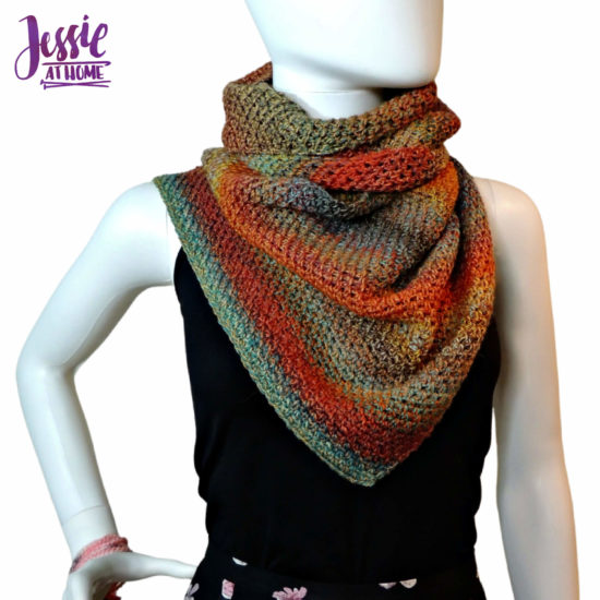 Slice of Fall Wrap - crochet pattern by Jessie At Home - 1