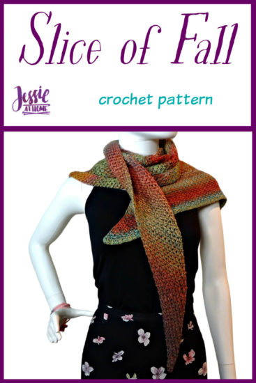 Slice of Fall Wrap - crochet pattern by Jessie At Home - Pin 1