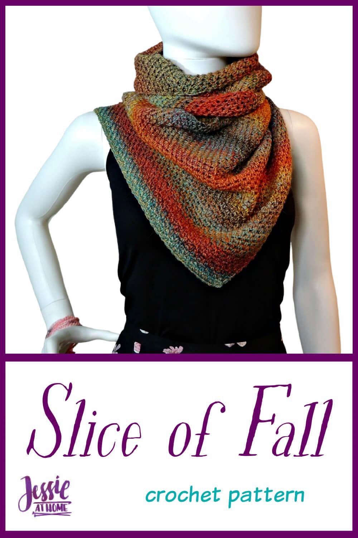 Slice of Fall Wrap - YarnBox pattern!!