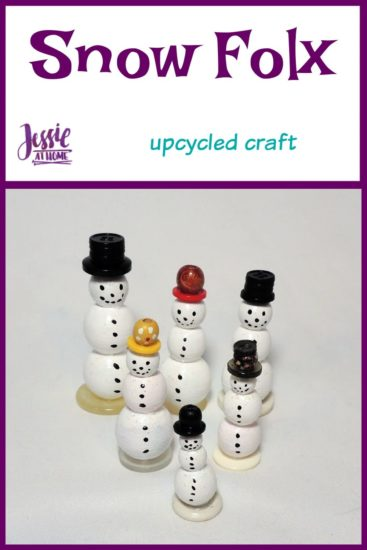 Snow Folx - Upcycled Snowmen for Christmas in July by Jessie At Home - Pin 1