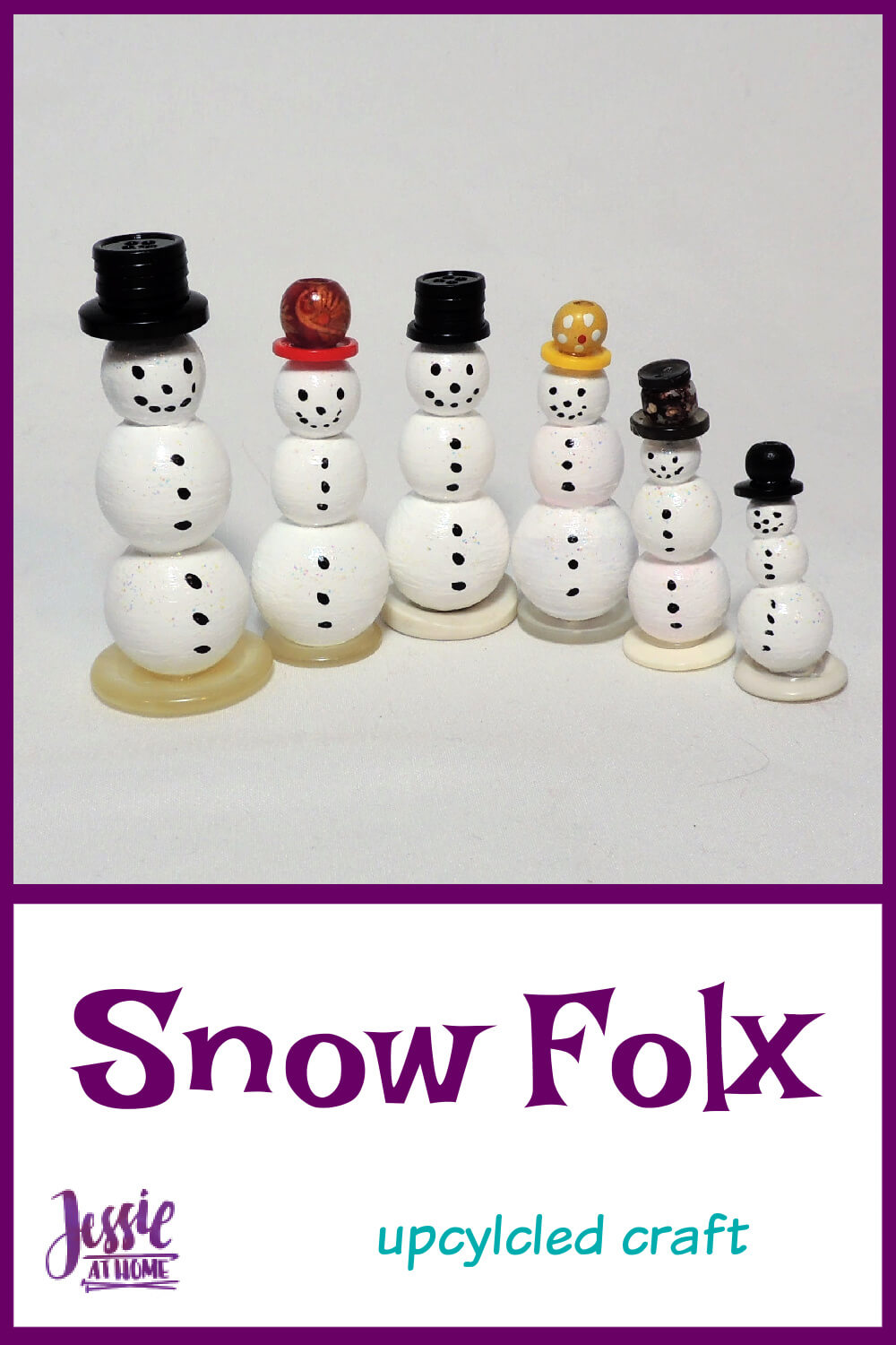 Snow Folx - Upcycled Snowmen for Christmas in July