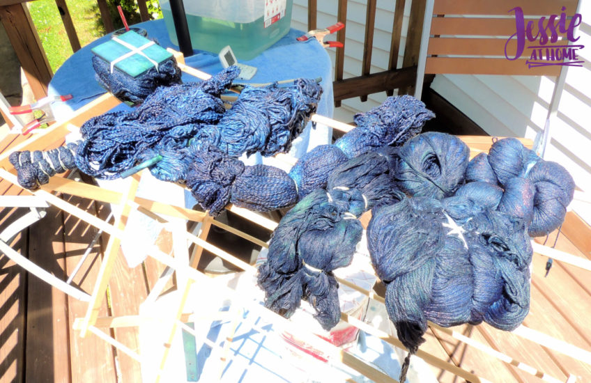 Yarn Dyeing with Indigo - Drying
