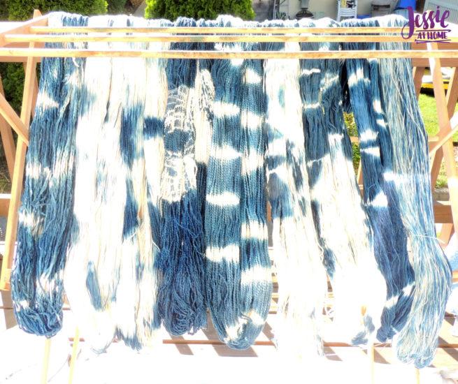 Yarn Dyeing with Indigo - Drying in the Sun
