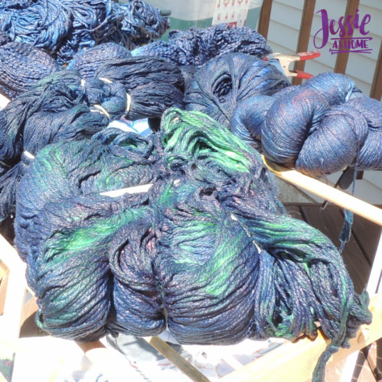 Yarn Dyeing with Indigo - It Starts Out Green