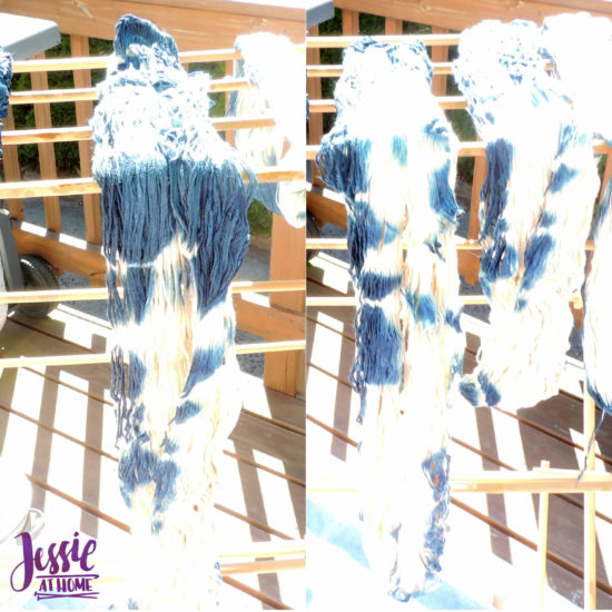 Yarn Dyeing with Indigo -Learn with Jessie At Home - Comfy Color Mist Drying