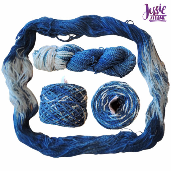 Yarn Dyeing with Indigo -Learn with Jessie At Home - Cotton Boucle Ends Done