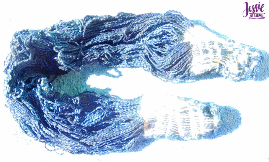 Yarn Dyeing with Indigo -Learn with Jessie At Home - Cotton Boucle Ends Untied
