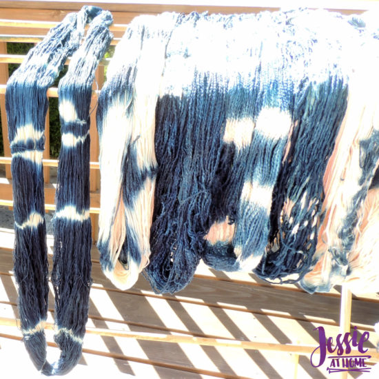 Yarn Dyeing with Indigo -Learn with Jessie At Home - Curio Plus Drying