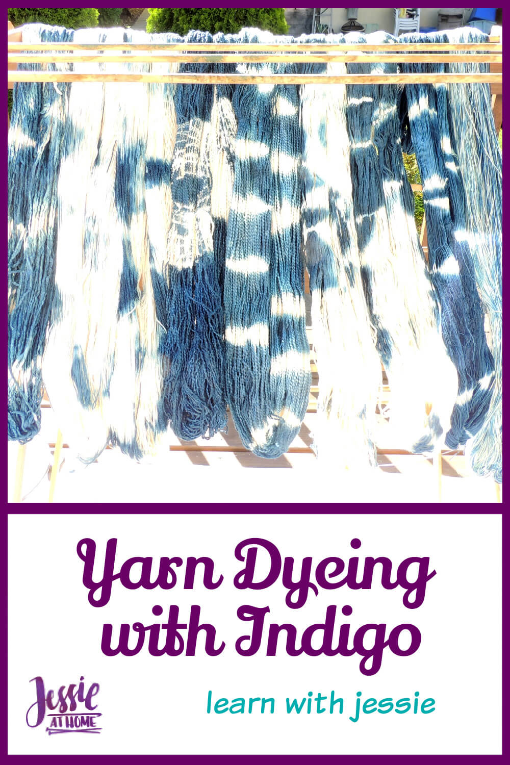 Yarn Dyeing with Indigo - This is so cool!