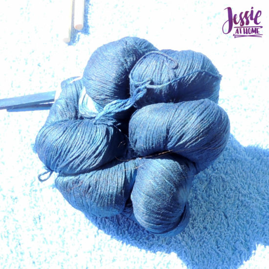 Yarn Dyeing with Indigo -Learn with Jessie At Home - Simply Cotton Fingering Tied Up