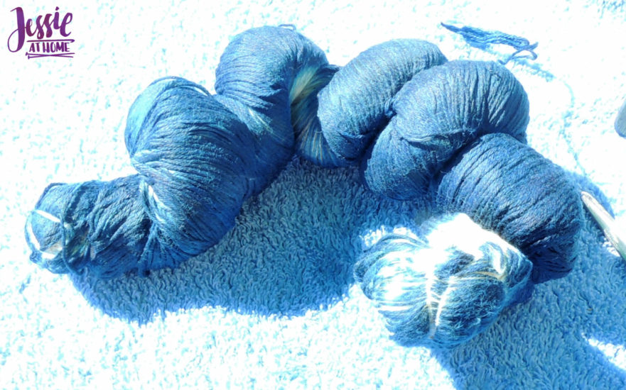 Yarn Dyeing with Indigo -Learn with Jessie At Home - Simply Cotton Fingering Untying