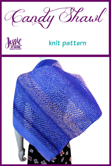 Candy Shawl knit pattern by Jessie At Home - Pin 1