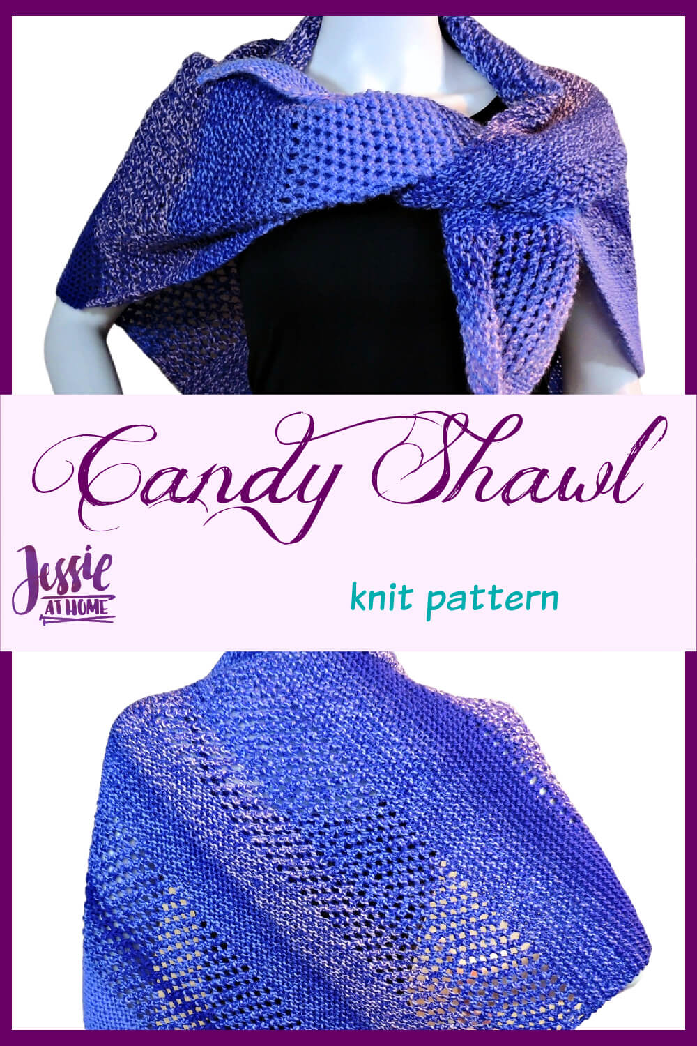 Candy Shawl - let the yarn do the color work