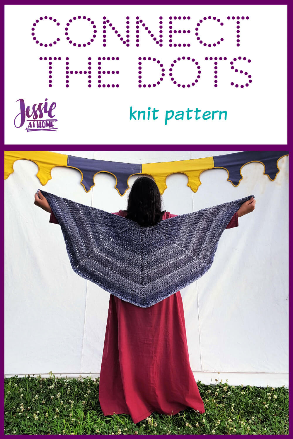 Eyelet Row Knitting Pattern - Connect the Dots - Great Beginner Project!