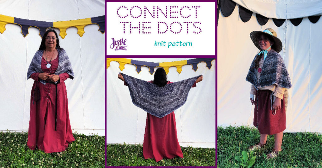 Eyelet Row Knitting Pattern - Connect the Dots by Jessie At Home - Social